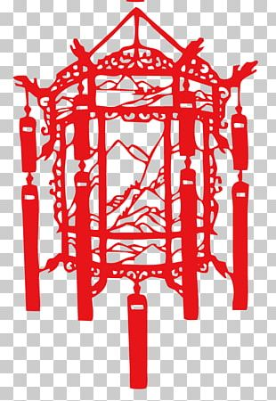 Lantern Papercutting Chinese New Year Traditional Chinese Holidays PNG