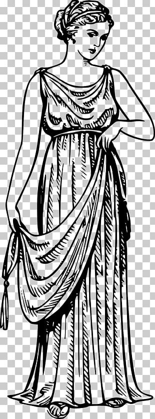 Ancient Greece Archaic Greece Greek Dress Chiton Clothing PNG