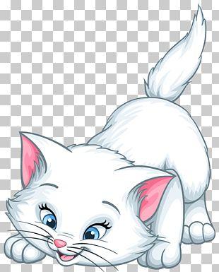 Kitten Cat Whiskers Marie Cartoon PNG