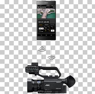 Sony NXCAM HXR-NX80 XDCAM Video Cameras Autofocus Exmor PNG