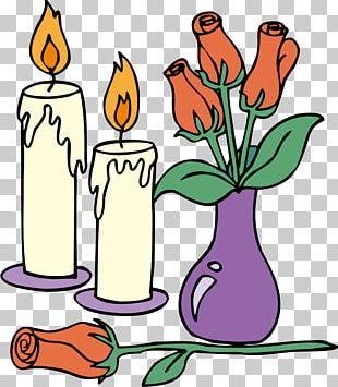 Floral Design Drawing Cartoon Vase PNG