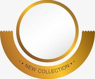 Golden Circle Label PNG