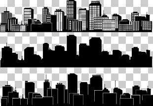 City Silhouette Skyline Building PNG
