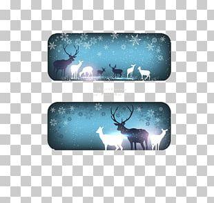 Christmas Banner Snowflake Illustration PNG