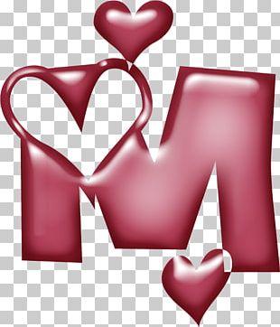 Letter Alphabet M Heart Pin PNG