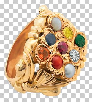 Navaratna Ring Jewellery Gemstone Birthstone PNG