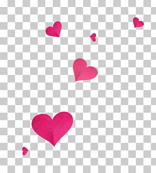 Love Valentine's Day Magenta Heart Font PNG