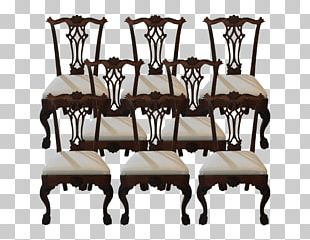 Table Wing Chair Furniture Living Room PNG