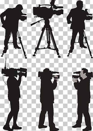 Camera Operator News Silhouette Illustration PNG