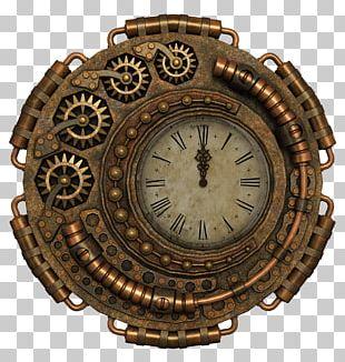 Steampunk Clock Pixabay Illustration PNG