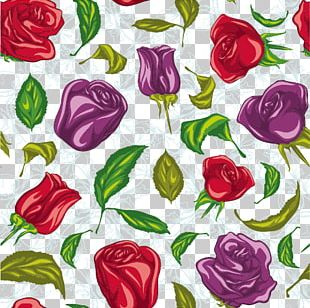 Floral Design Garden Roses Flower Pattern PNG