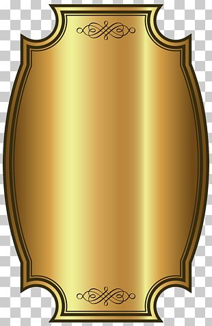 Whisky Label Gold PNG
