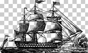 USS Constitution Sailing Ship PNG