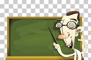 Student Teacher Blackboard Illustration PNG