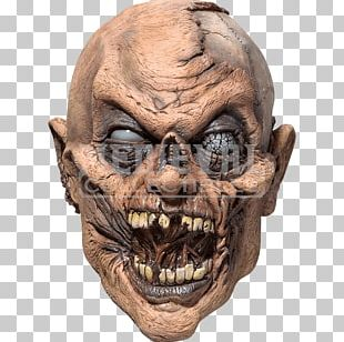 Halloween Costume Latex Mask Ghoul PNG