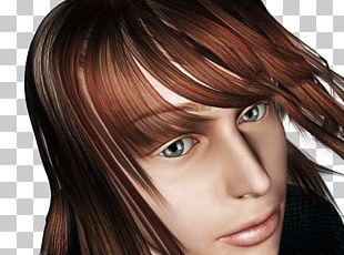 Layered Hair Woman Face Lip Mouth PNG