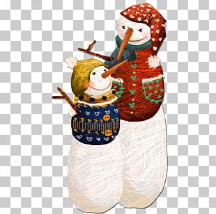 Christmas Eve Snowman Illustration PNG