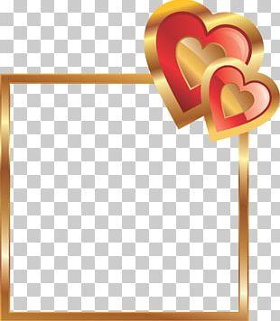 Love Friendship Valentine's Day Heart PNG
