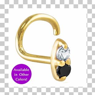 Earring Gold Body Jewellery Nose Diamond PNG