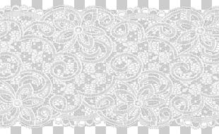 Filet Lace Textile Thread PNG