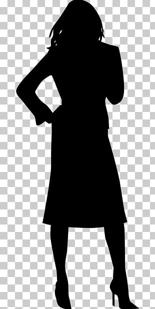 Silhouette Woman Drawing PNG