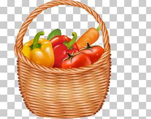 Basket Fruit Vegetable PNG
