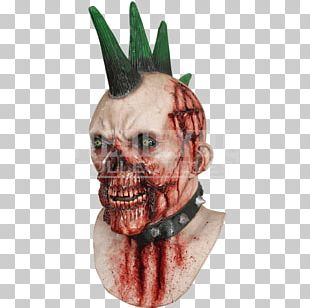 Latex Mask Punk Rock Costume Disguise PNG