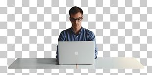 Man Working At The Office On A Laptop PNG