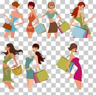 Fashion Shopping Woman Illustration PNG