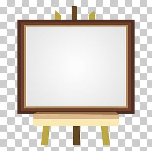Easel Painting Canvas PNG