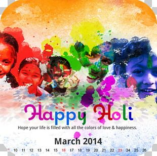 Holi Festival Of Colours Tour Wish Greeting PNG