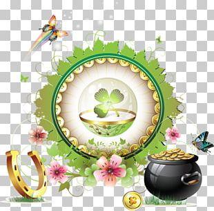 Saint Patrick's Day Four-leaf Clover PNG