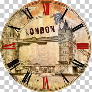 Clock London Poster PNG