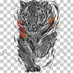Polygon Digital Art Sketch PNG