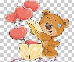Teddy Bear Gift PNG
