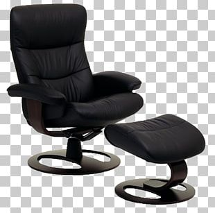 Eames Lounge Chair Recliner Foot Rests Couch PNG