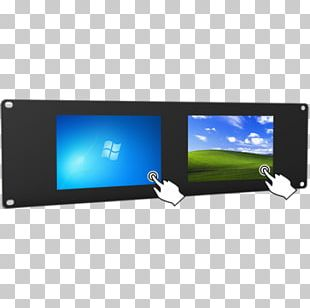 LED-backlit LCD Computer Monitors 19-inch Rack Touchscreen Liquid-crystal Display PNG