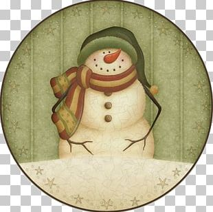 Snowman Christmas Illustration PNG