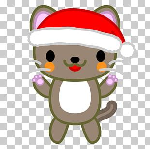 Santa Claus Cat Illustration Christmas Day Birthday PNG
