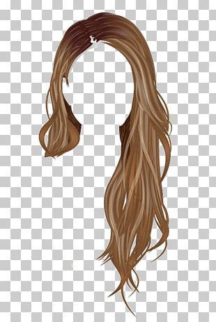 Stardoll Brown Hair Wig PNG