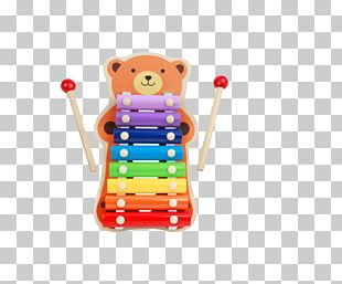 Stuffed Toy Xylophone Percussion Musical Instrument PNG