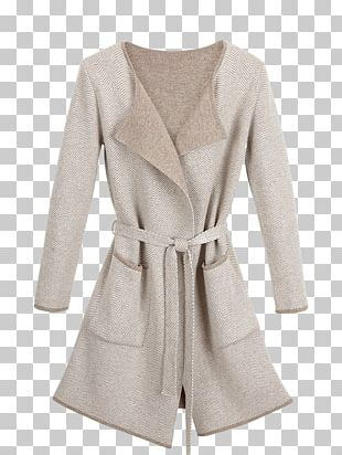 Trench Coat Outerwear Beige Neck Sleeve PNG