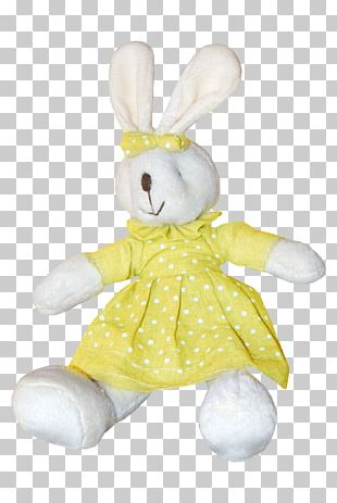 Easter Bunny Stuffed Toy Rabbit Plush PNG