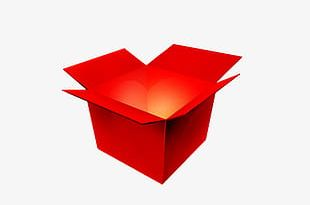 Open Red Gift Box PNG