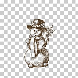 Christmas Snowman Drawing PNG
