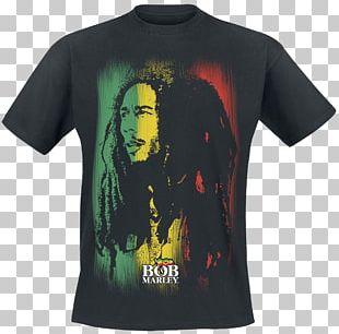 T-shirt Catch A Fire Rastafari Reggae Black Metal PNG
