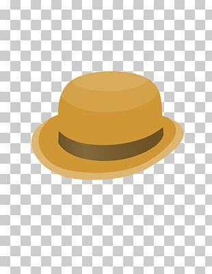 Hat Yellow Designer PNG