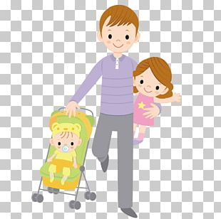 Child Father Drawing Illustration PNG