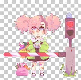 Toy Pink M Character PNG