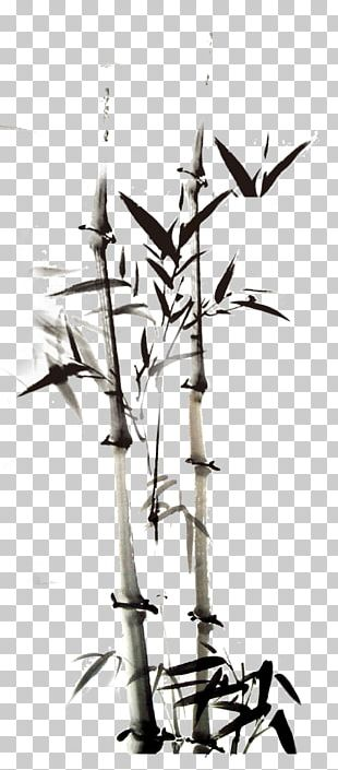 Ink Wash Painting Bamboo PNG